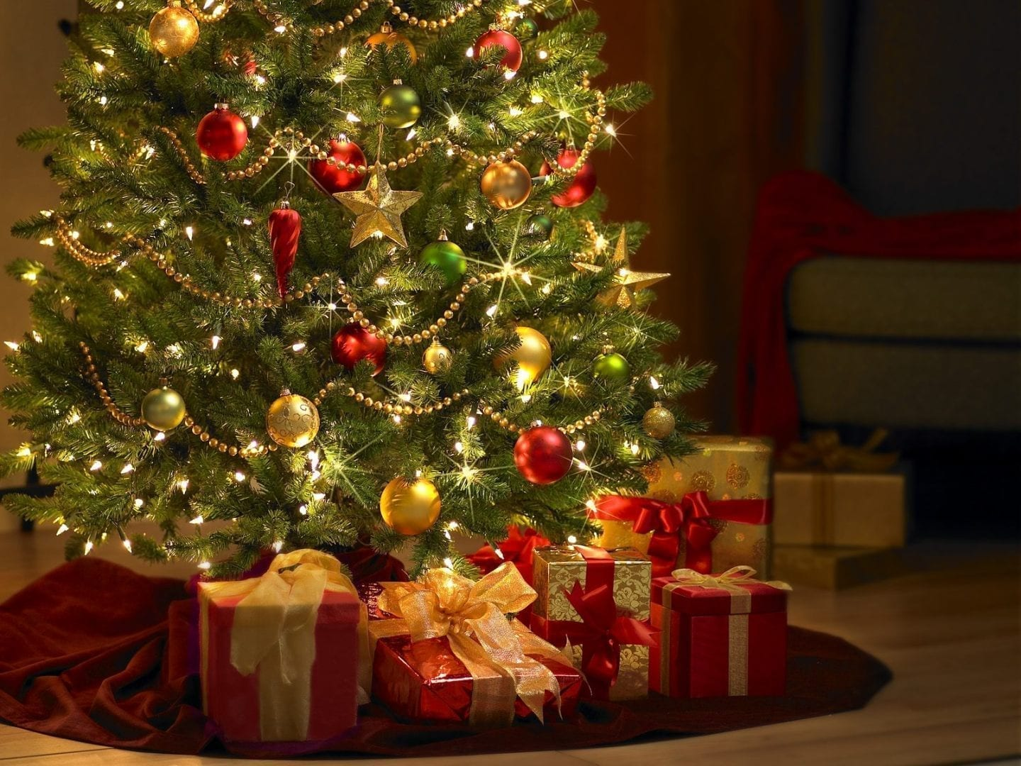 christmas tree presents clipart
