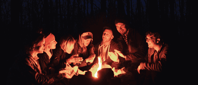 The Digest Staff camping
