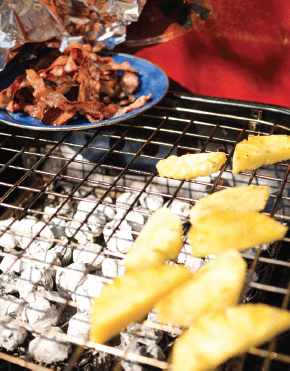 grilling pineapples camping