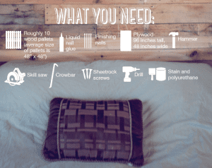 what you need pallet headboard